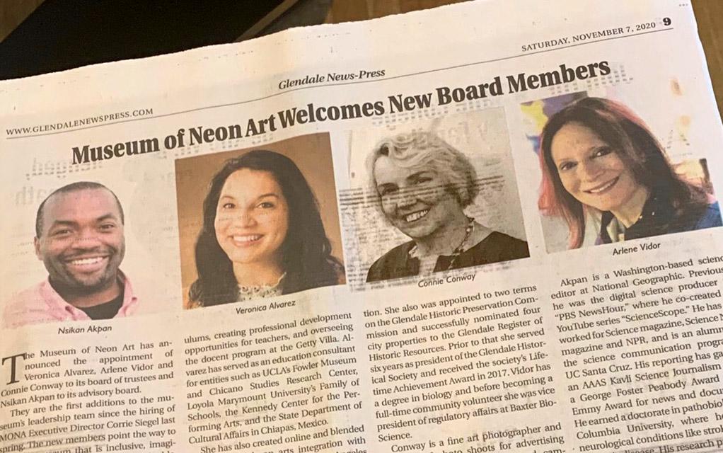 MONA Welcomes New Board Members