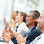 Men applauding