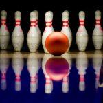 Bowling pin and bowling bowl