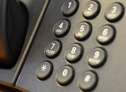 View of Telephone buttons