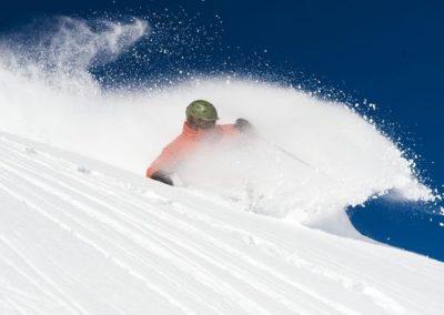 Skier in Deep Pow