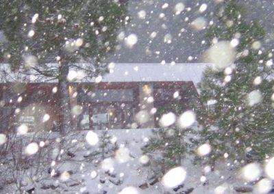 1222S - Exterior in Snowstorm