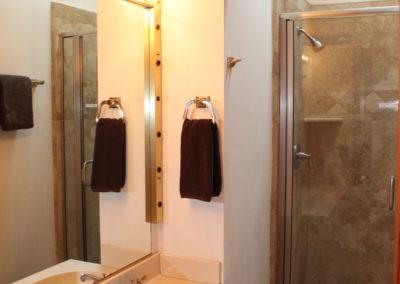 Bath #2: Stall Shower, toilet & double sinks