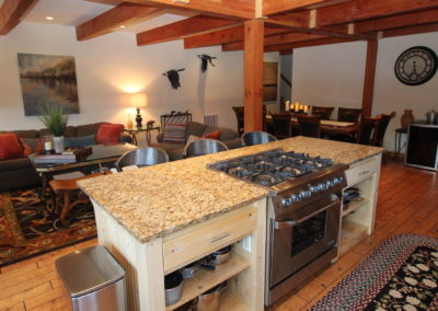 Great Room - Kitchen Island & Living Area