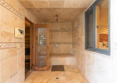 Spa Area - Shower & Sauna
