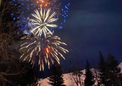 Fireworks through the window