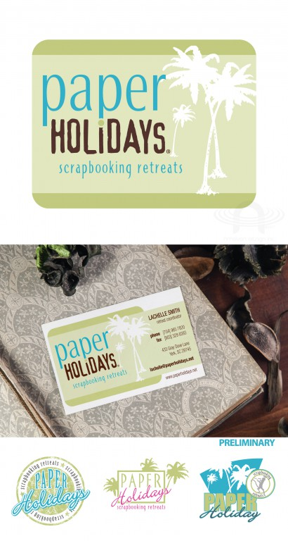 PAPER HOLIDAYS LOGO AND BUSINESS CARD