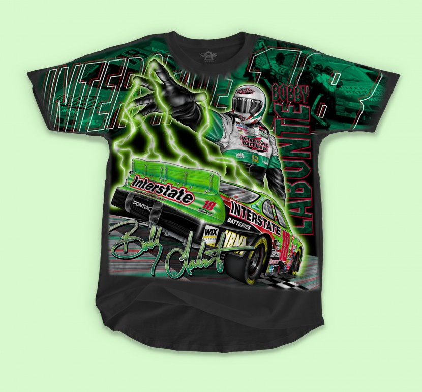 BOBBY LABONTE NASCAR T-SHIRT FRONT