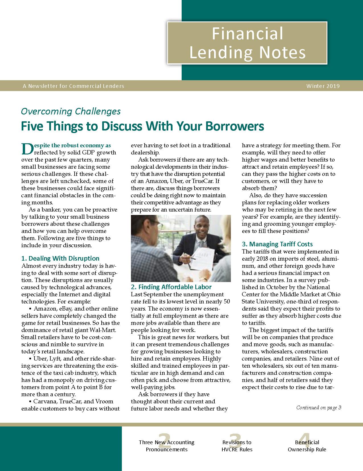 Financial Lending Notes
