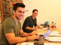 From Left - Tutor Jaime Martinez and GAQNA Manager James Mazzo
