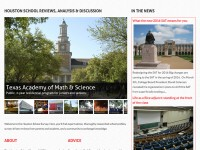 Homepage with featured schools.