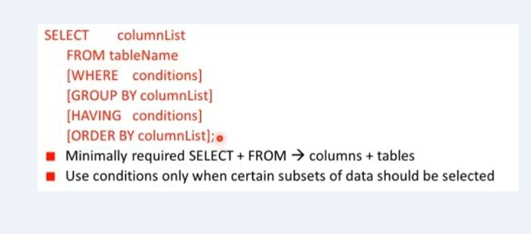 SQL Commands - Data Query Language Sample Query