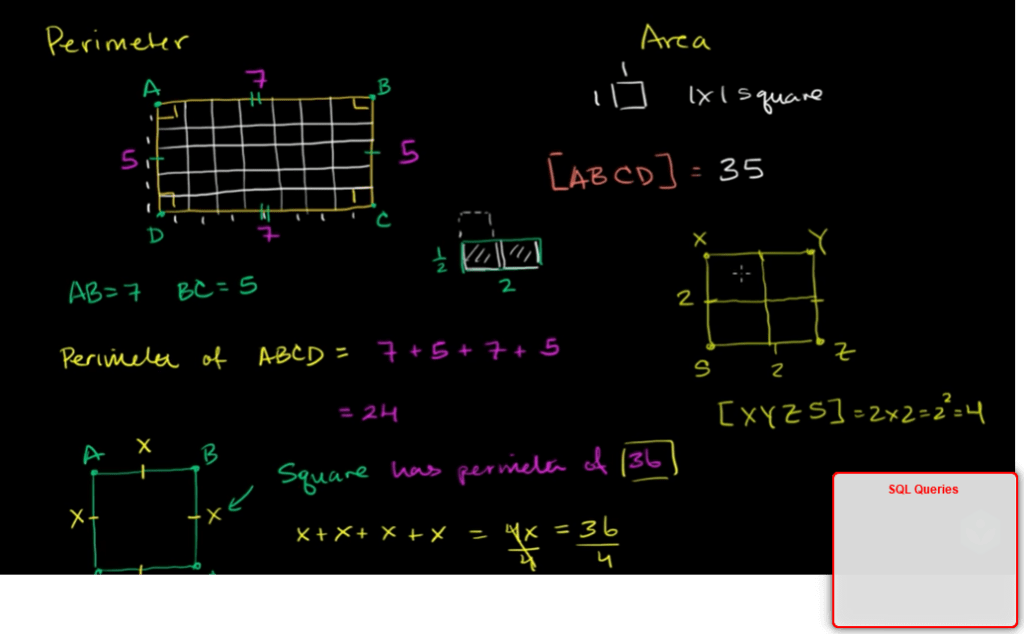 area and perimeter of rectangle