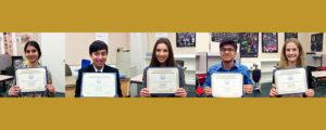 CJSF Huhn Award Central Coast Region 2017-18 recipients