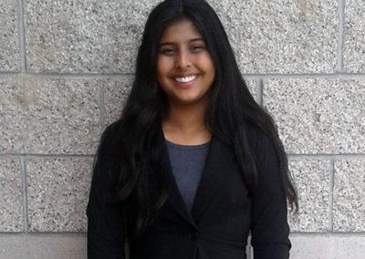 Mehikpreet Sidhu, Sunnyside High School, finalist CSF 2017-18 Seymour Award Central Region