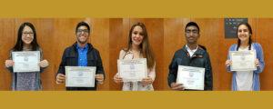 CJSF Huhn Award South Region 2017-18 recipients