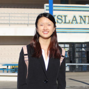 Anna Chang, Seymour South Central finalist 2017-18. Palos Verdes Peninsula HS, Chapter 1138, CSF Adviser Betsy Okamoto.