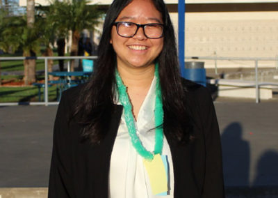 Kaylie Chen, Seymour South Central finalist 2017-18. Adolfo Camarillo HS, Chapter 542, CSF Adviser Colleen Colburn.