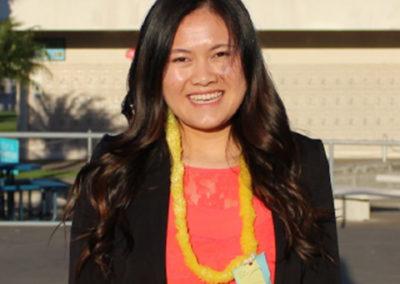 Nhung Katryna Vong, Seymour South Central finalist 2017-18. Santa Maria HS, Chapter 6, CSF Adviser Anita Salomon.