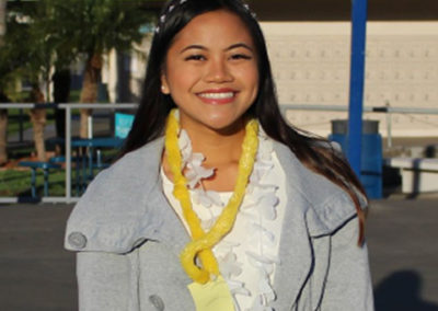 Roselyn Romero, Seymour South Central finalist 2017-18. Channel Islands HS, Chapter 796, CSF Adviser Terrie Romines.