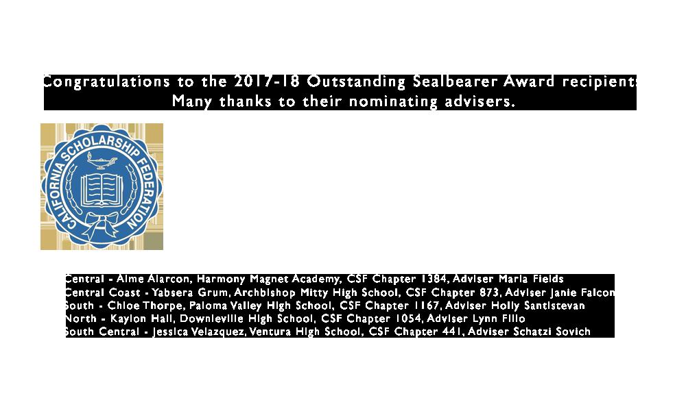 2017-18 Outstanding Sealbearers
