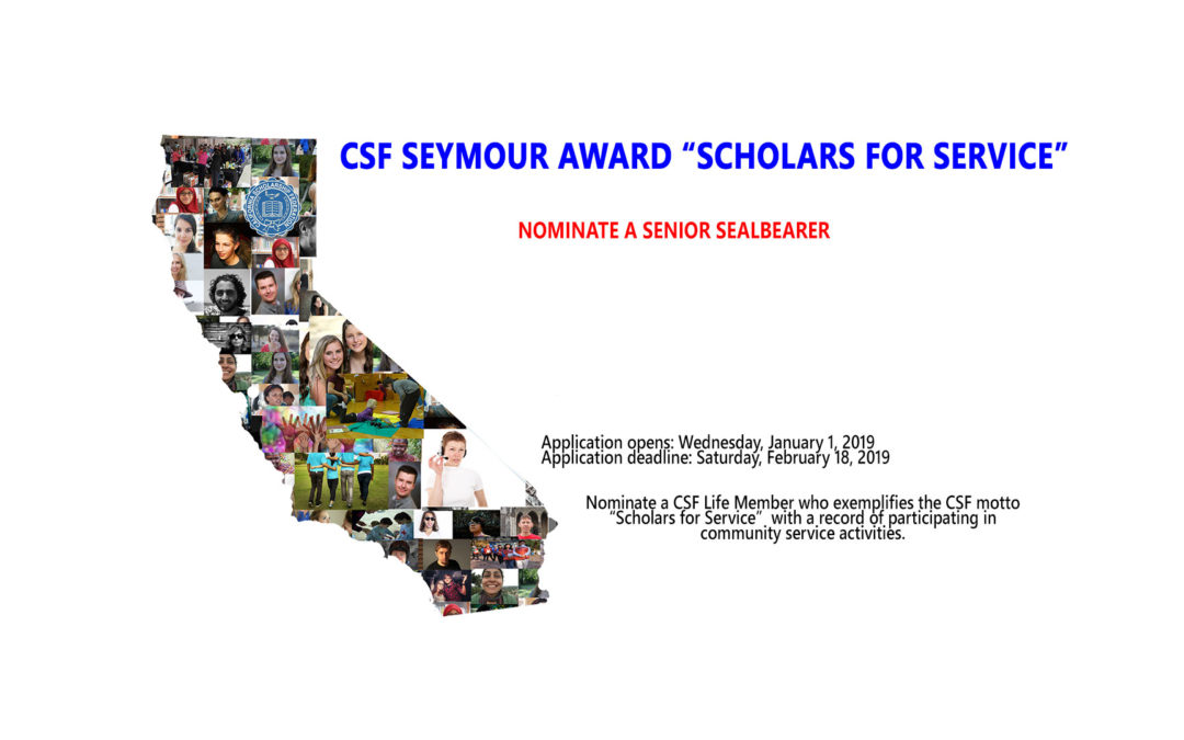 Nominate CSF Sealbearers for Seymour Award