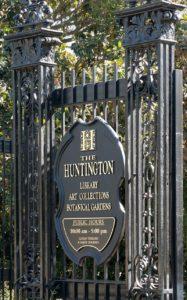 Huntington Library & Gardens gate