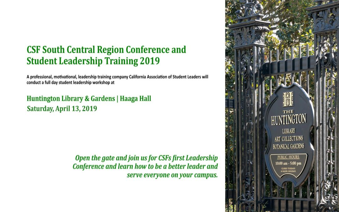 CSF South Central Region Conference and Student Leadership Training 2019