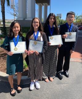 CJSF Huhn Award South Region Finalists group photo