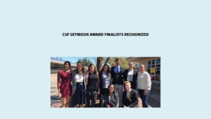 Seymour North 2019 Recipient Joanna Jarvis (2nd from left) and Finalists Simrit Dhillon, Paige Smith, Sorea Asmai, Maxwell Callan, Taylor Froomin, Marianne Homer, Nicabec Casido, Kade Breckenridge