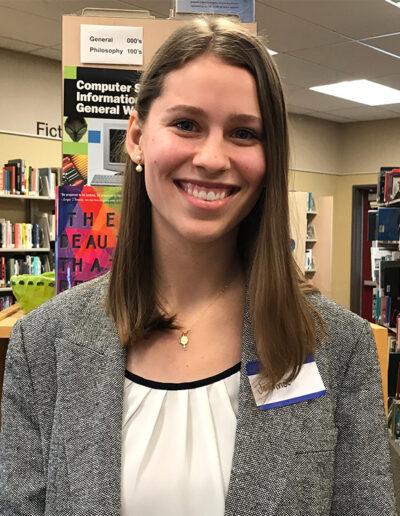 Seymour North 2019 Recipient Joanna Jarvis, River Valley High School Chapter 1366, Adviser Eric Ricketts