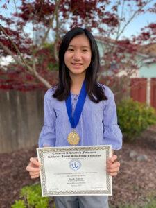Nicole Nguyen, Chapter 846 Cruickshank Middle School, Adviser Wendy May