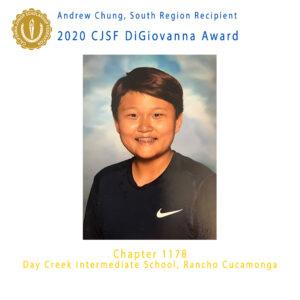 Andrew Chung, 2020 CJSF DiGiovanna Award South Region Recipient
