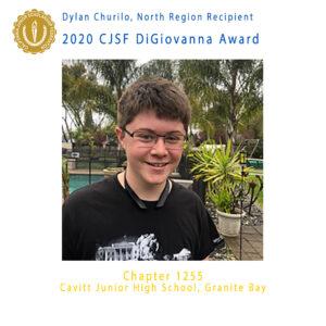 Dylan Churilo, 2020 CJSF DiGiovanna Award North Region Recipient