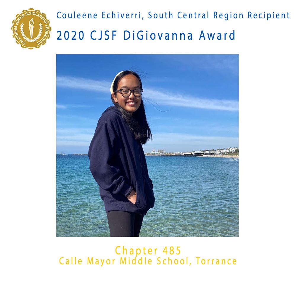 Couleene Echiverri, 2020 CJSF DiGiovanna Award South Central Region Recipient