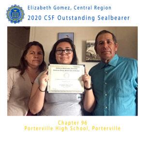 Elizabeth Gomez, 2020 Outstanding Sealbearer Central Region