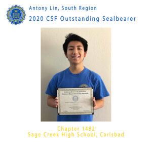 Antony Lin, 2020 Outstanding Sealbearer South Coast Region