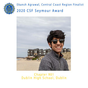 Ekansh Agrawal, 2020 CSF Seymour Award Central Region Finalist