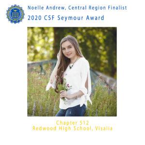 Noelle Andrew, 2020 CSF Seymour Award Central Region Finalist