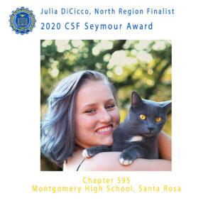 Julia DiCicco, 2020 CSF Seymour Award North Region Finalist