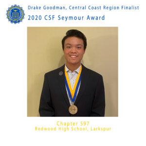 Drake Goodman, 2020 CSF Seymour Award Central Coast Region Finalist