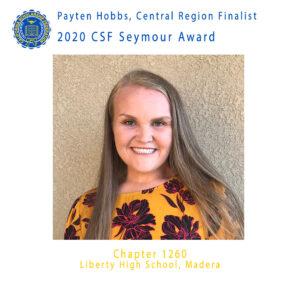 Payten Hobbs, 2020 CSF Seymour Award Central Region Finalist