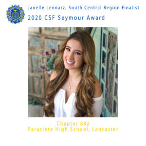 2020 CSF Seymour Award South Central Region Finalist