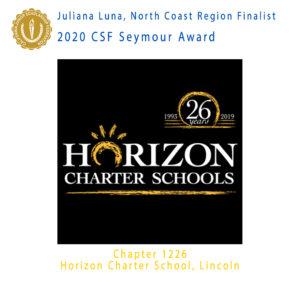 Juliana Luna, 2020 CSF Seymour Award North Region Finalist