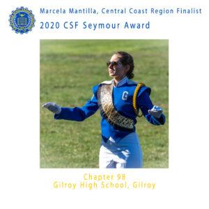 Marcela Mantilla, 2020 CSF Seymour Award Central Coast Region Finalist