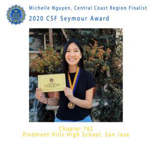 Michelle Nguyen, 2020 CSF Seymour Finalist Central Coast Region