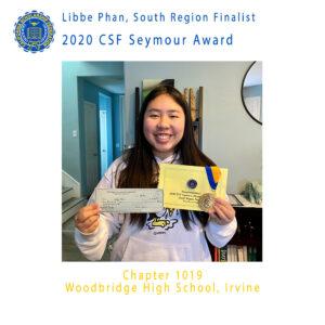 Libbe Phan, 2020 CSF Seymour Award South Region Finalist