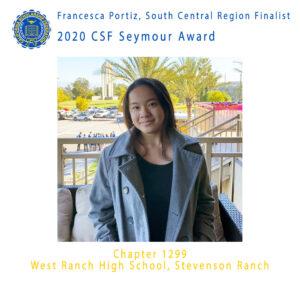 Francesca Portiz, 2020 CSF Seymour Award South Central Region Finalist