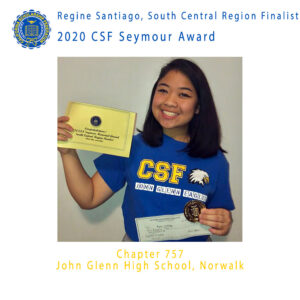 Regine Santiago, 2020 CSF Seymour Award South Central Region Finalist