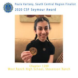 Pauline Vartany, 2020 CSF Seymour Award South Central Region Finalist